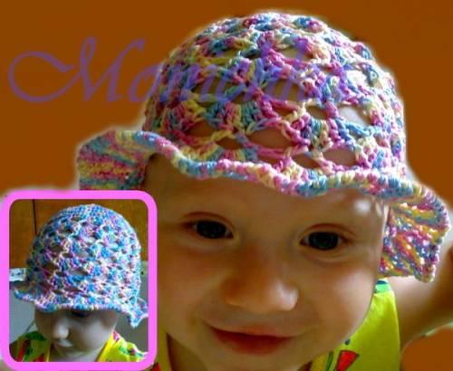 красивая вязаная шапка шлем для девочки - Выкройки одежды для детей и...